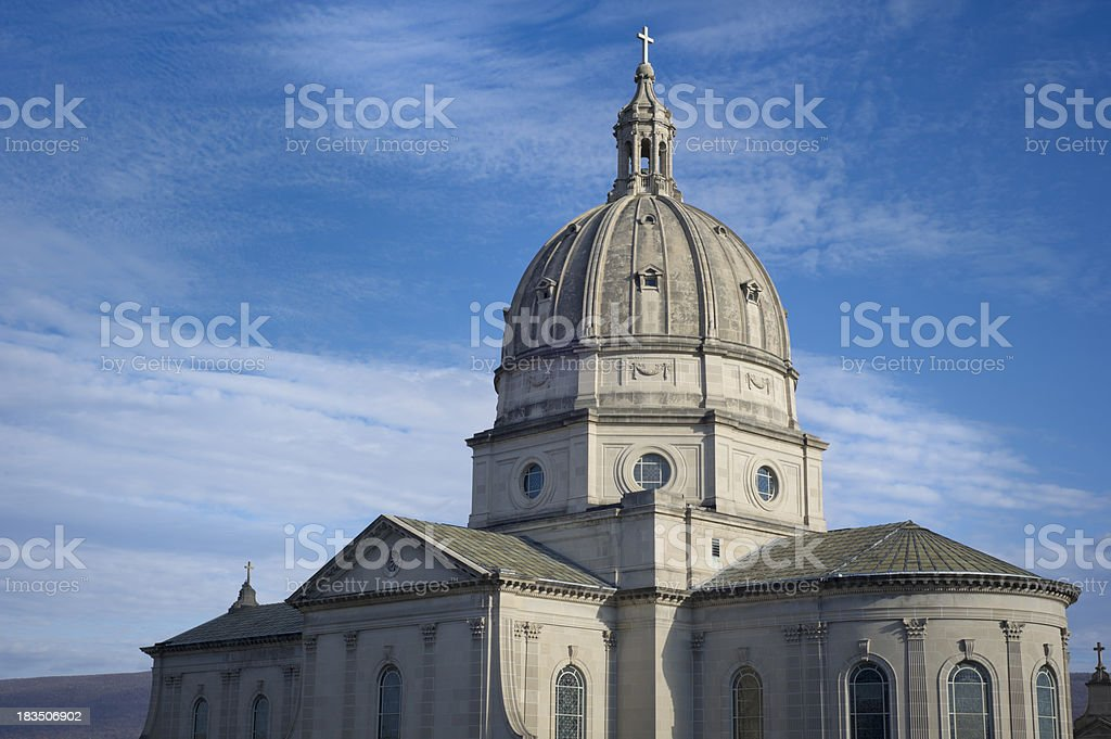 Catholic Church Cathedral Dome in Altoona, PA. stock photo