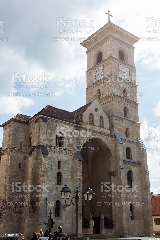 Catholic church in Alba Iulia stock photo