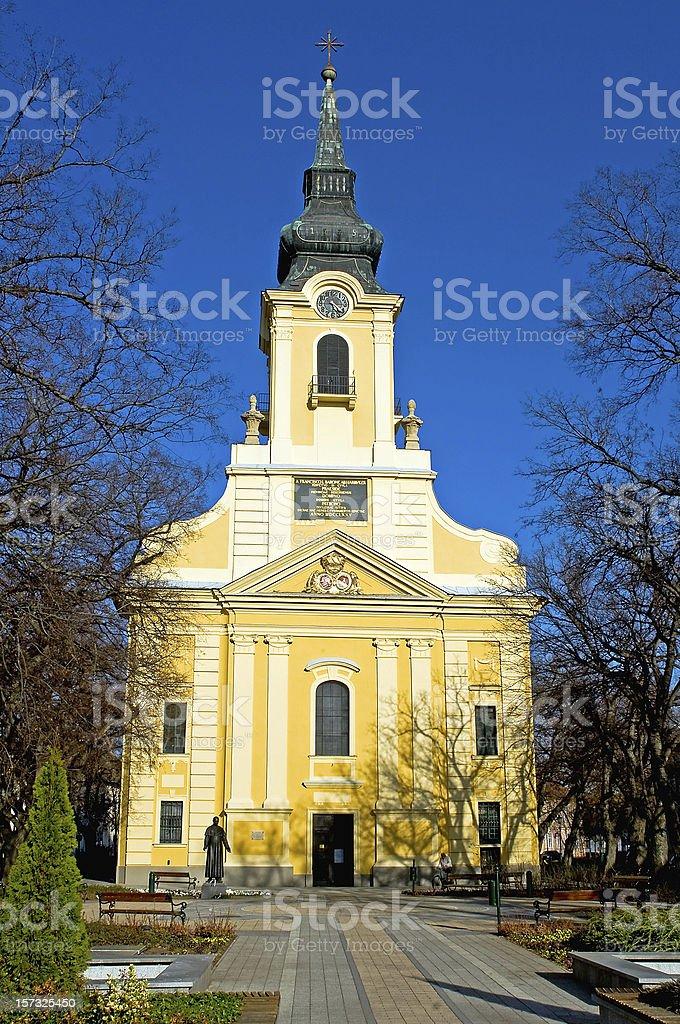 Catholic church in Gyula royalty-free stock photo