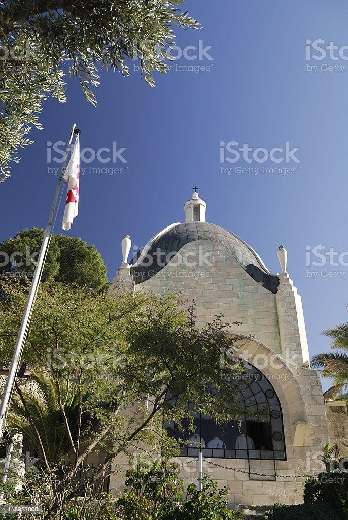 Catholic Church in Jerusalem royalty-free stock photo