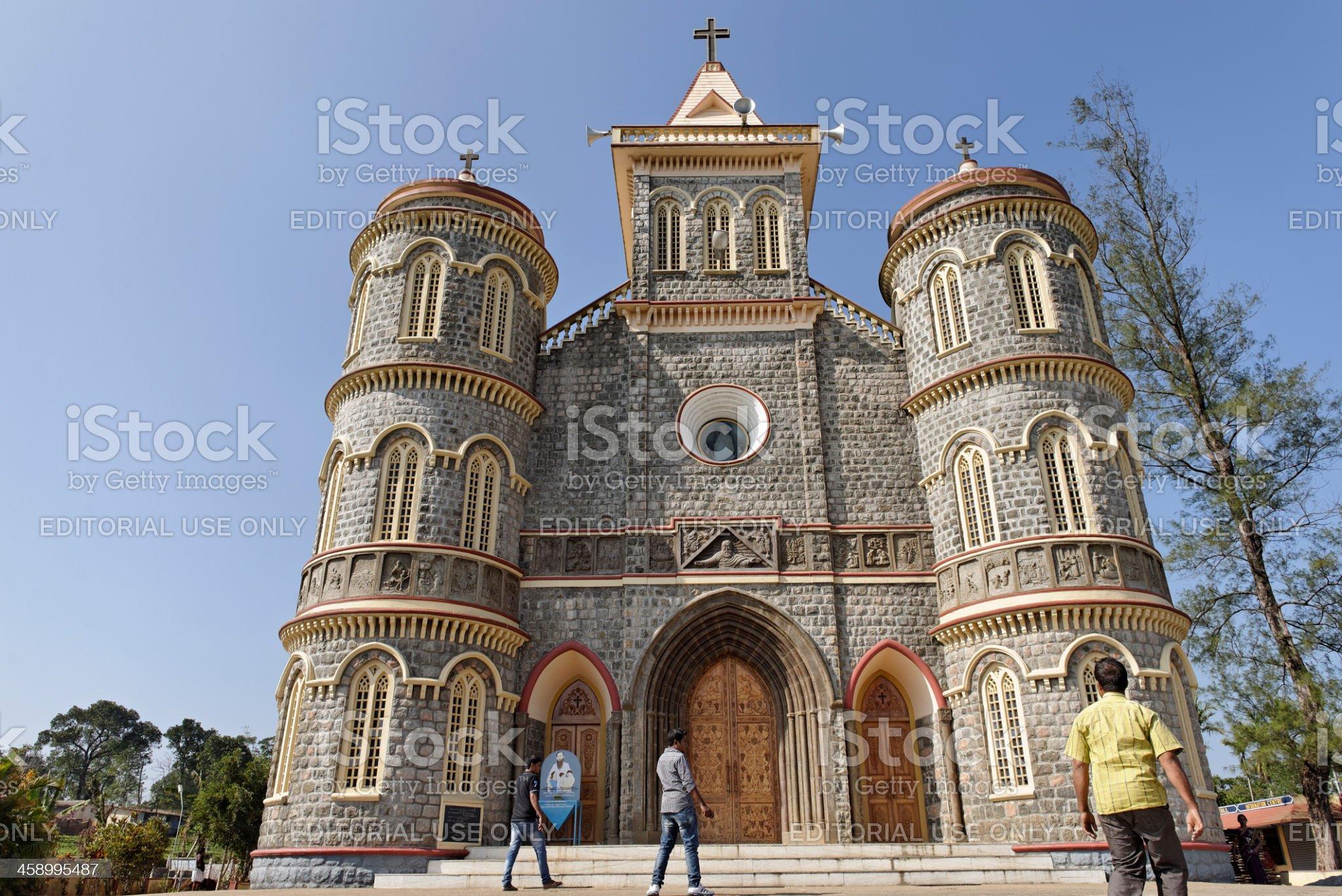 Igreja Católica em Kerala, Índia foto de stock royalty-free