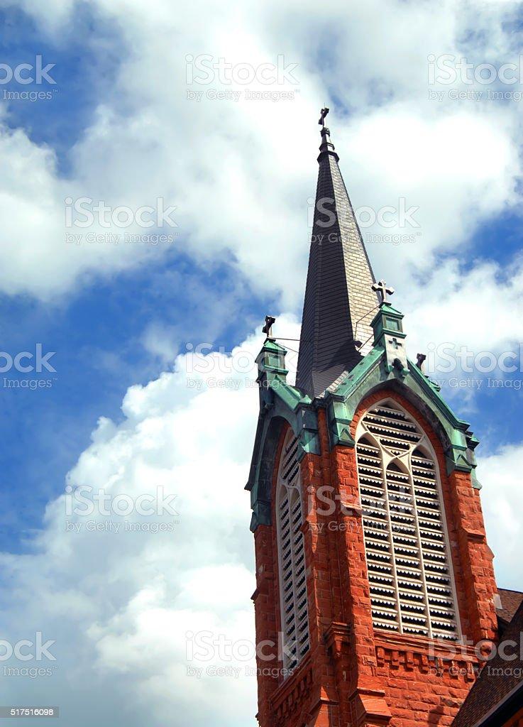 Catholic Church in Upper Peninnsula stock photo