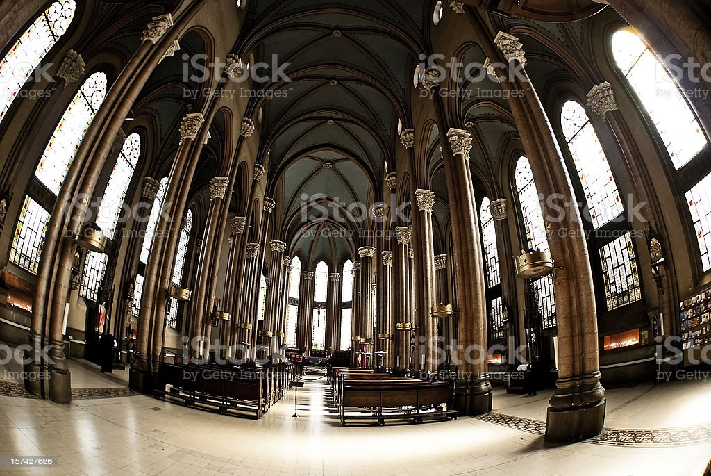 catholic  church interior royalty-free stock photo