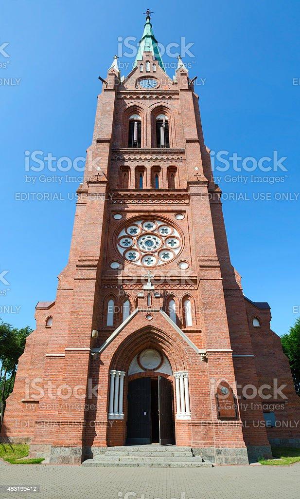 Catholic church of Ascension of Virgin Mary, Palanga stock photo