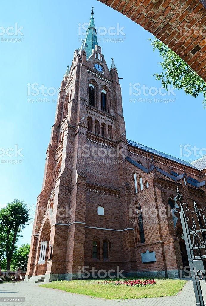 Catholic church of Assumption of Virgin Mary, Palanga, Lithuania stock photo