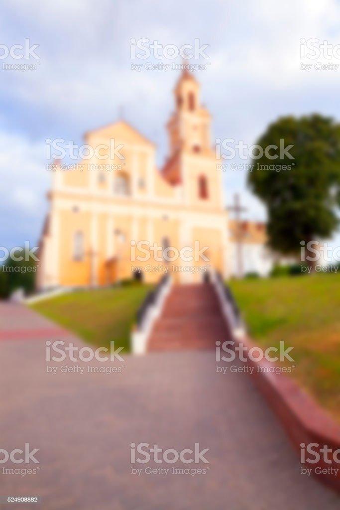 Catholic Church of Belarus stock photo