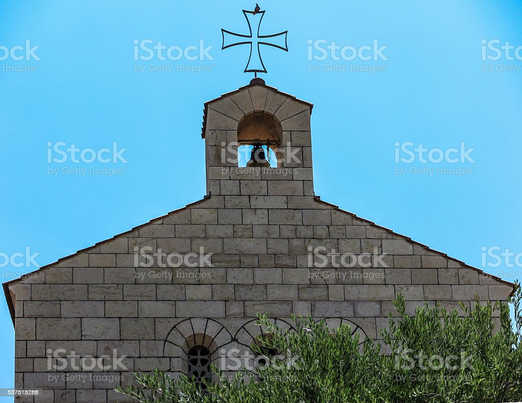 Catholic Church of the Multiplication of Bread and Fishes stock photo