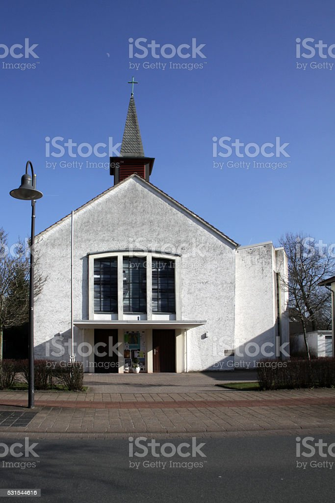 Catholic Church Sankt Marien in Schlangen stock photo