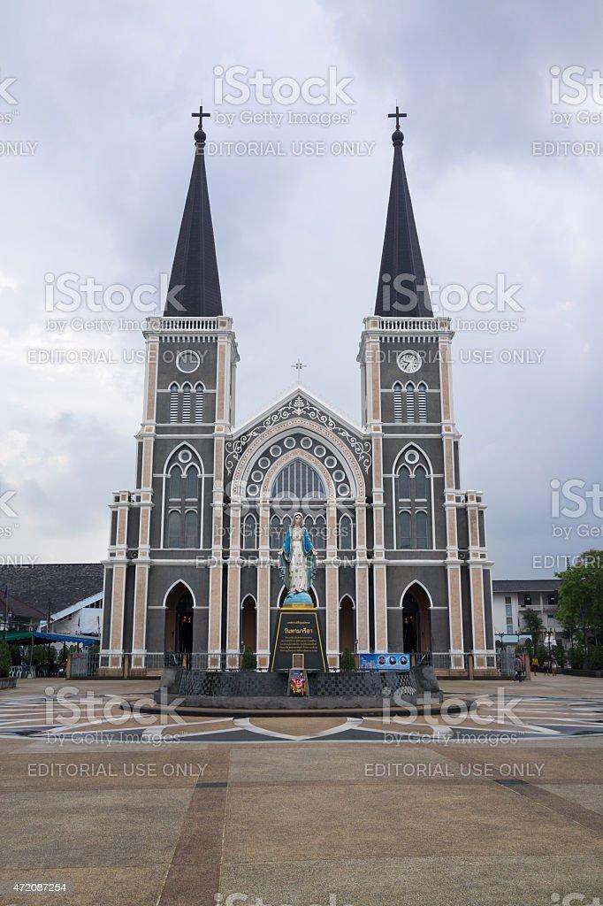 Église catholique de la Mary statue de Chantaburi, en Thaïlande photo libre de droits