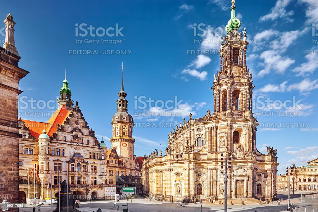 Catholic Court Church, Dresden stock photo