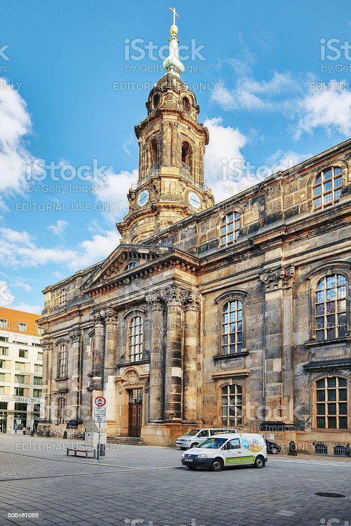 Catholic Court Church(Katholische Hofkirche).Center of the Dresden stock photo