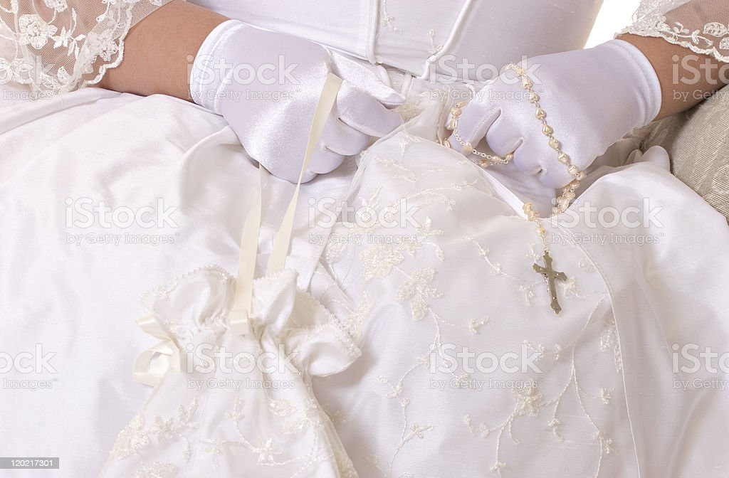 Catholic First Holy Communion stock photo
