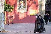Catholic nuns in Seville, Spain