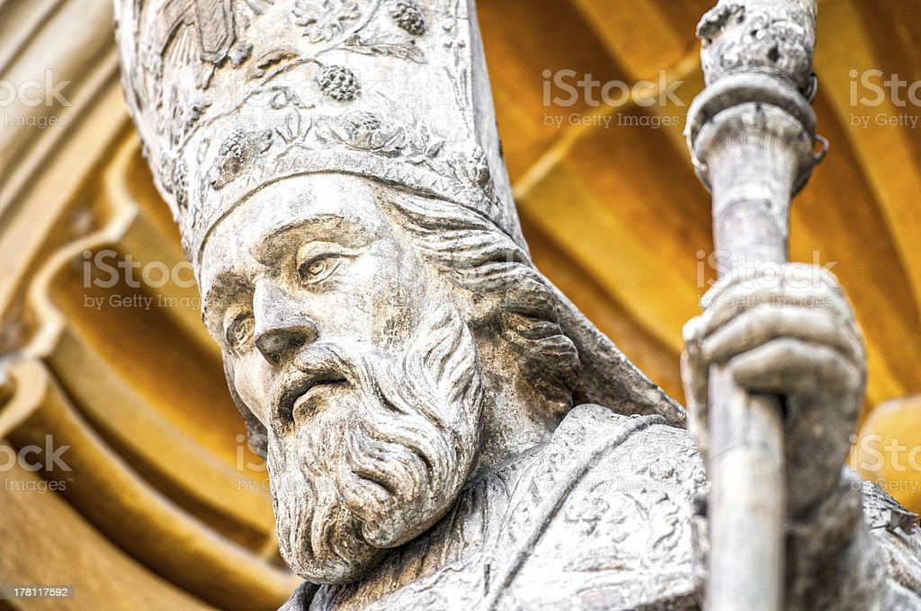 Catholic priest statue of Nice Cathedral. royalty-free stock photo