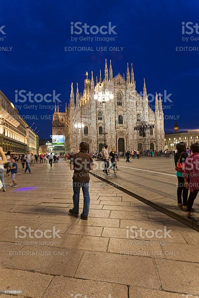 Cathredral of Milan royalty-free stock photo
