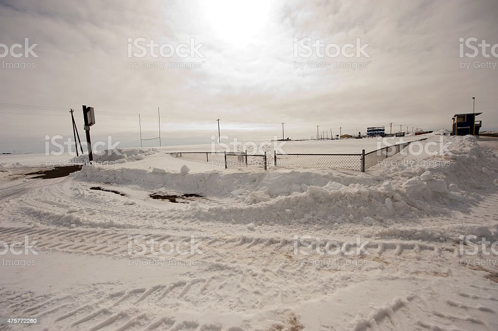 Cathy Parker Field - High School Football - Barrow, Alaska stock photo
