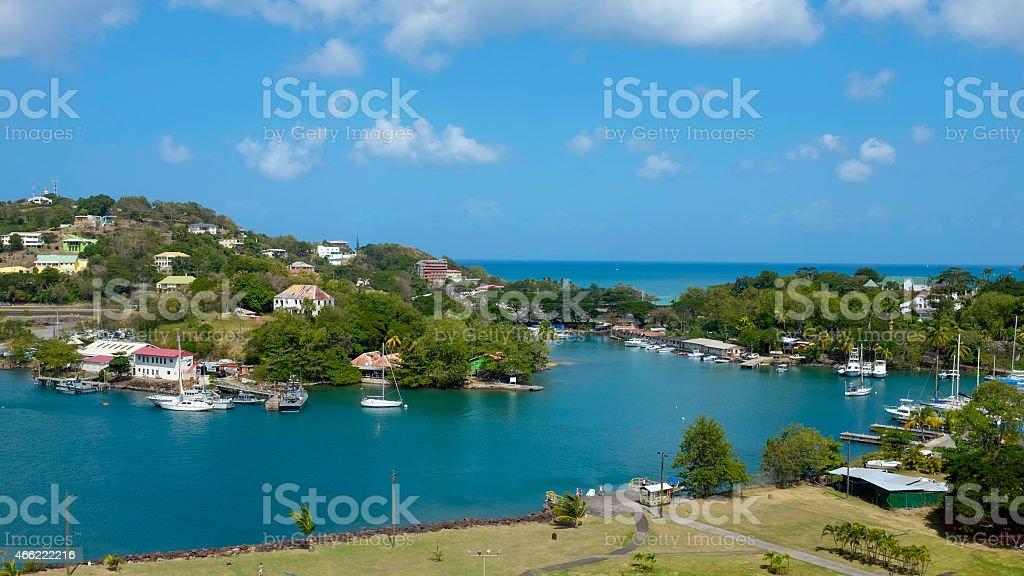 Catries city - Saint Lucia stock photo
