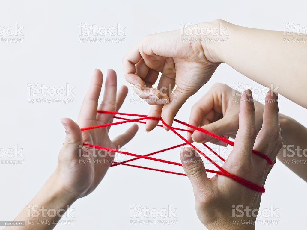Cats Cradle stock photo