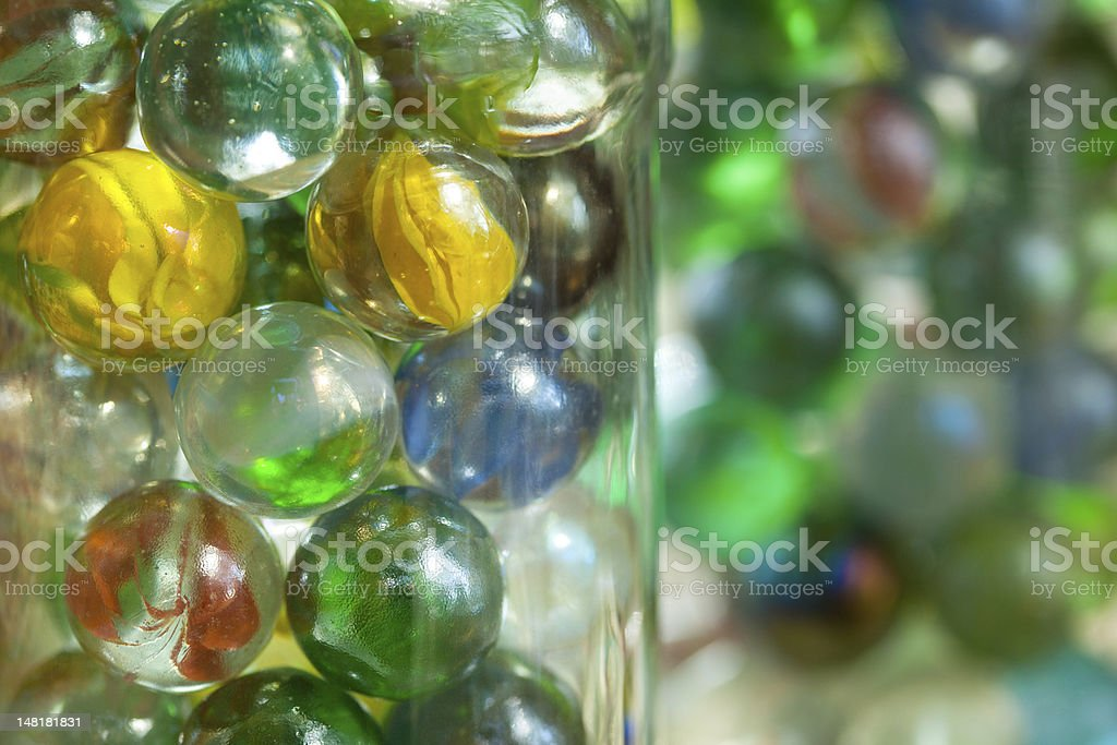 Cat's Eye Shooter Marbles stock photo