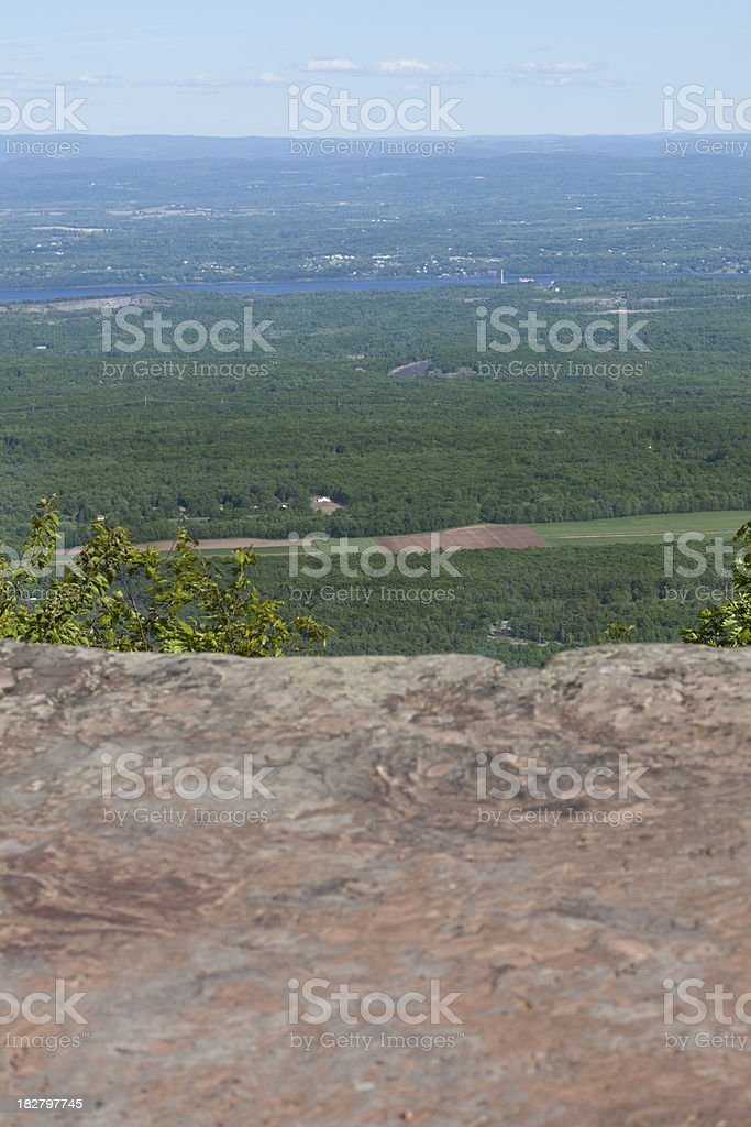 'Catskill Mountain House Site, Looking Across the Hudson' stock photo