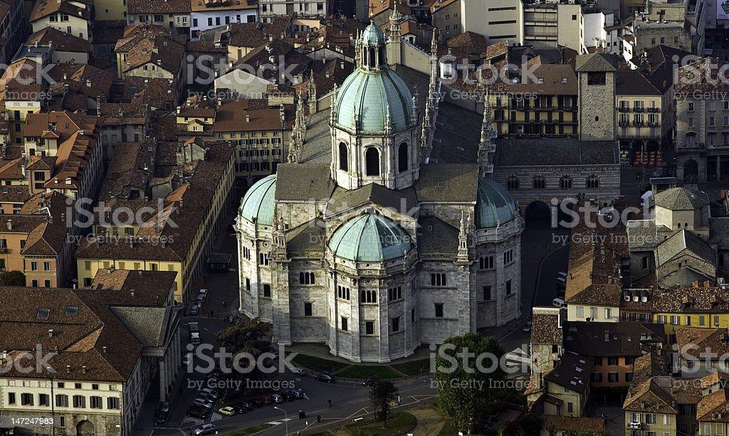cattedrale di como dall'alto royalty-free stock photo