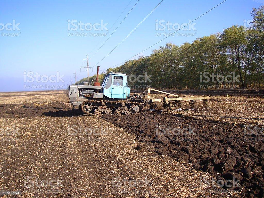 catterpillar tractor royalty-free stock photo