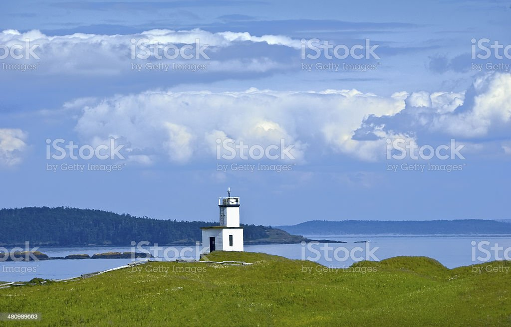 Cattle Point Lighthouse on San Juan Island, WA USA stock photo