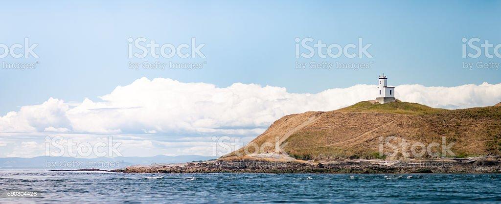 Cattle Point Lighthouse on San Juan Island Washington stock photo