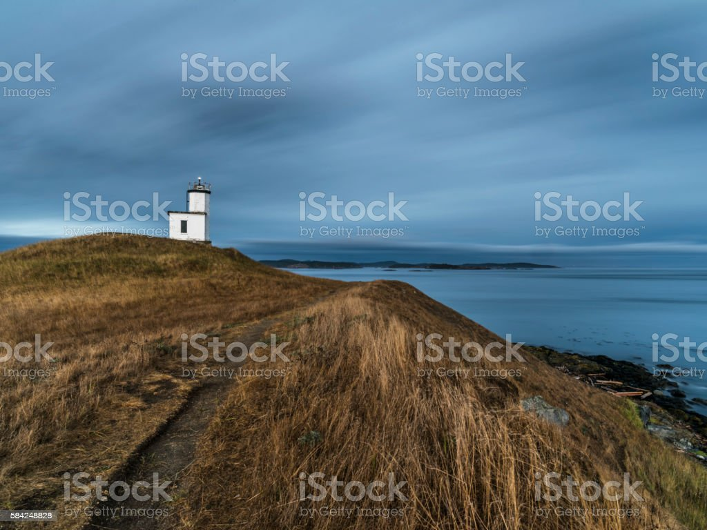 Cattle Point Lighthouse stock photo