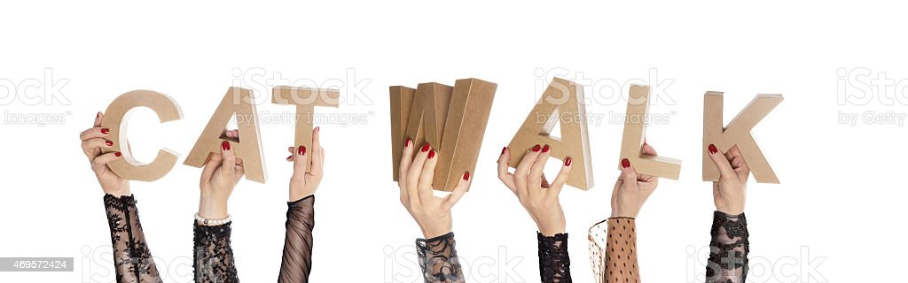 Catwalk fashionable hands stock photo