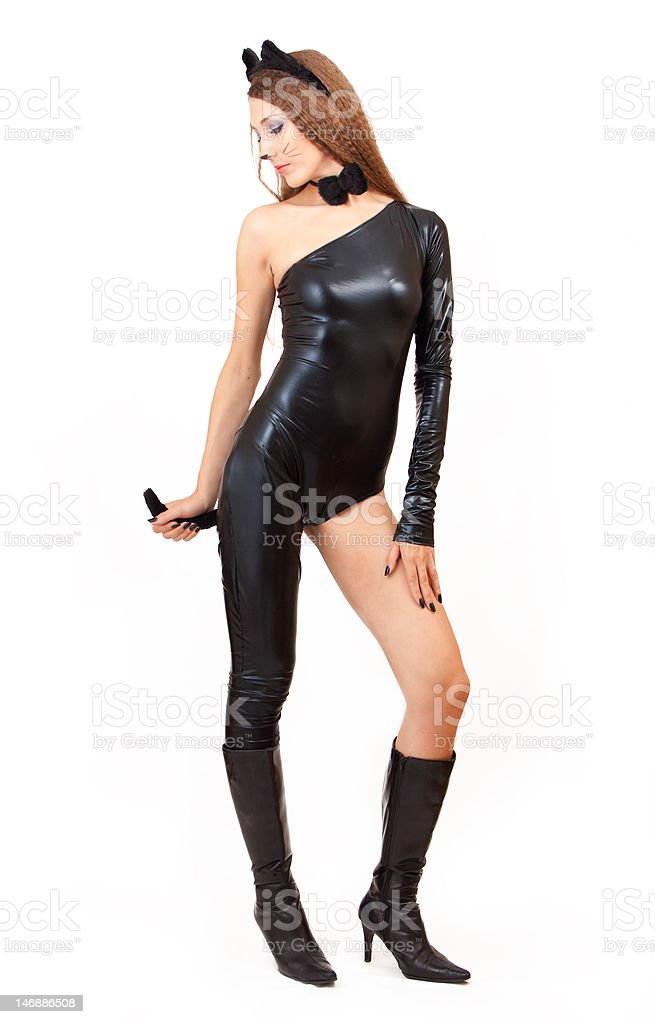 Catwoman. royalty-free stock photo