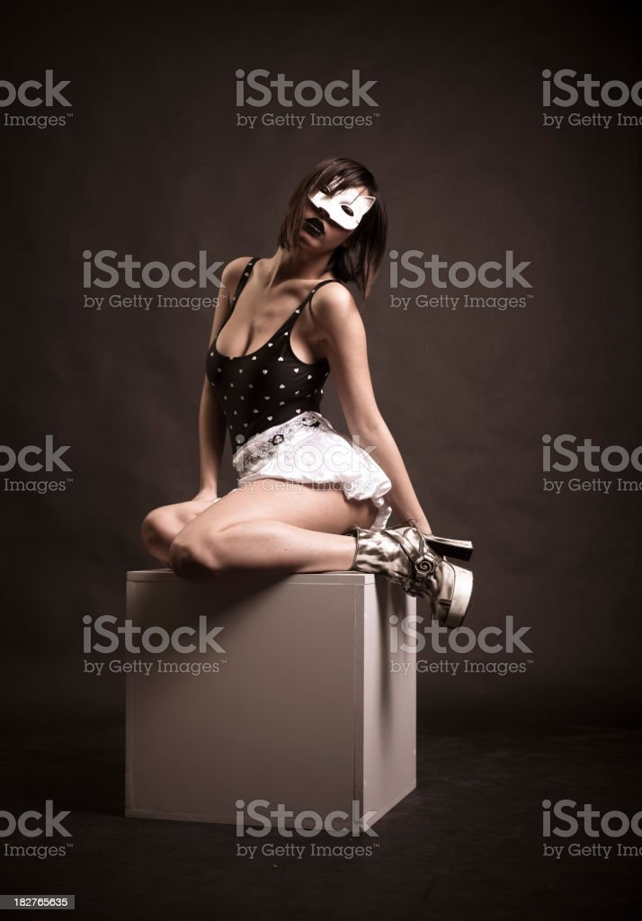 Catwoman royalty-free stock photo