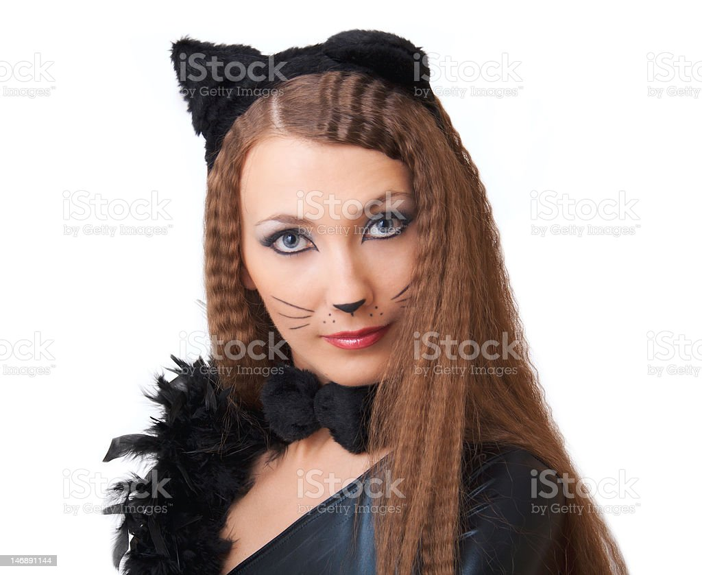 Catwoman portrait. royalty-free stock photo
