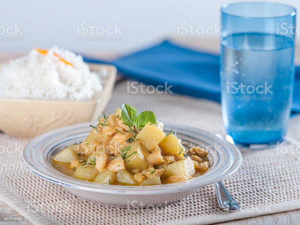 Cau Cau, a Typical Peruvian Tripe and Potato Stew stock photo