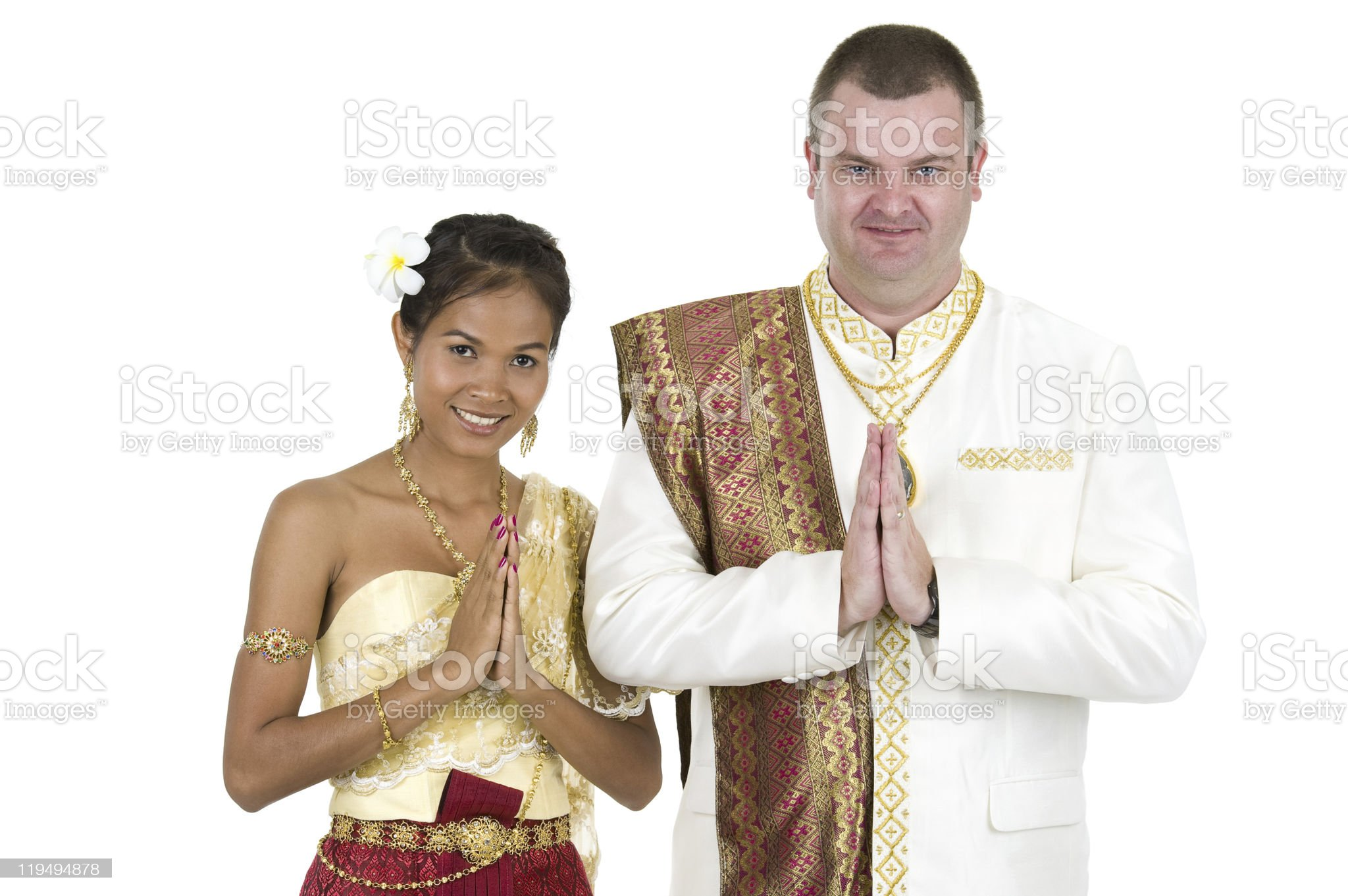 caucasian and asian couple royalty-free stock photo