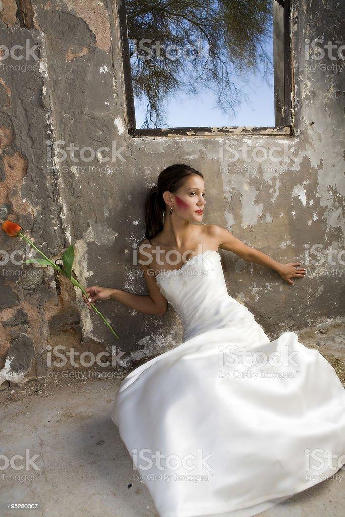 Caucasian Bridal Beauty stock photo