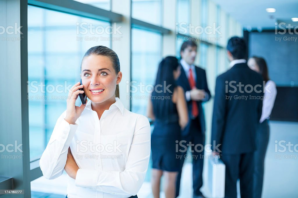 Caucasian business woman on the phone royalty-free stock photo