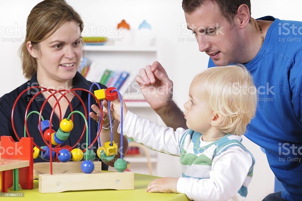 Caucasian Family Enjoying Playtime royalty-free stock photo