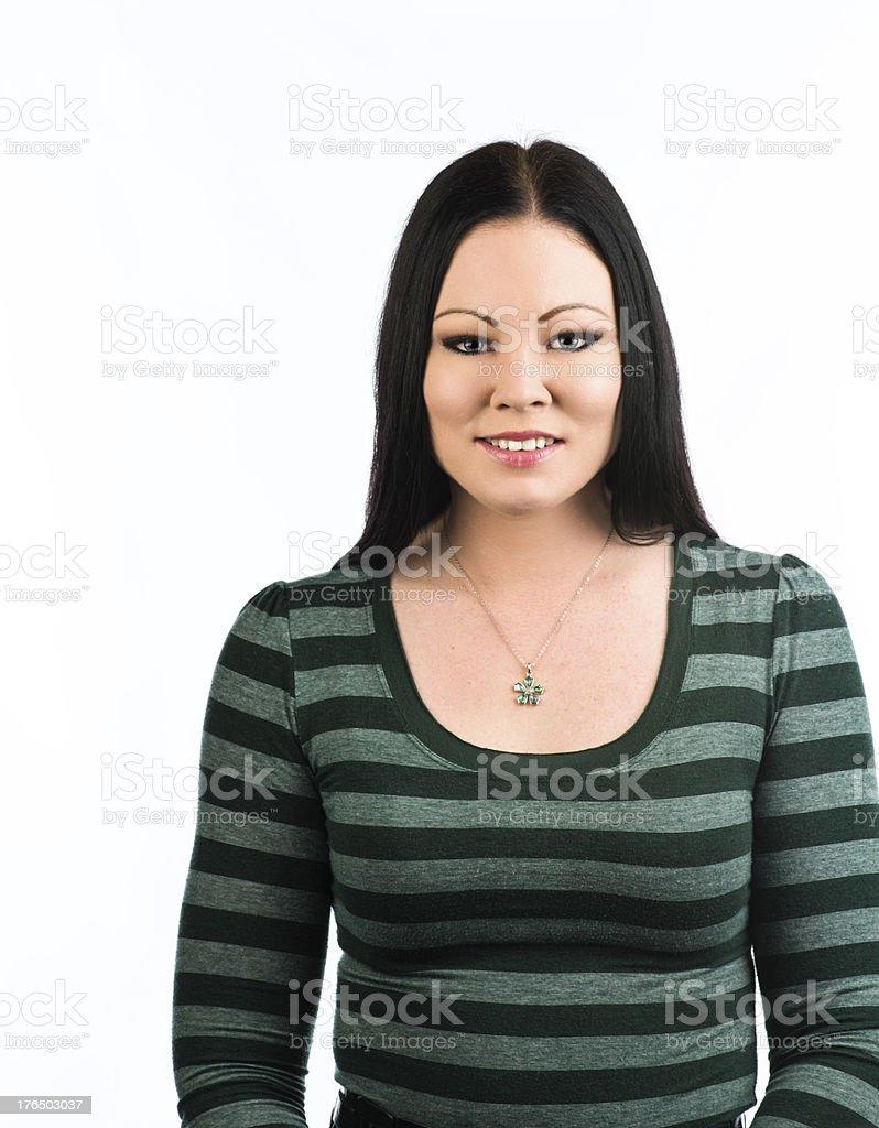 Caucasian friendly smiling woman royalty-free stock photo