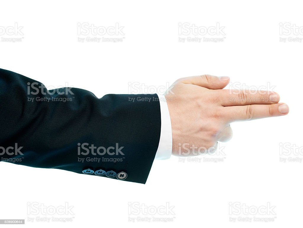 Caucasian male hand composition isolated stock photo