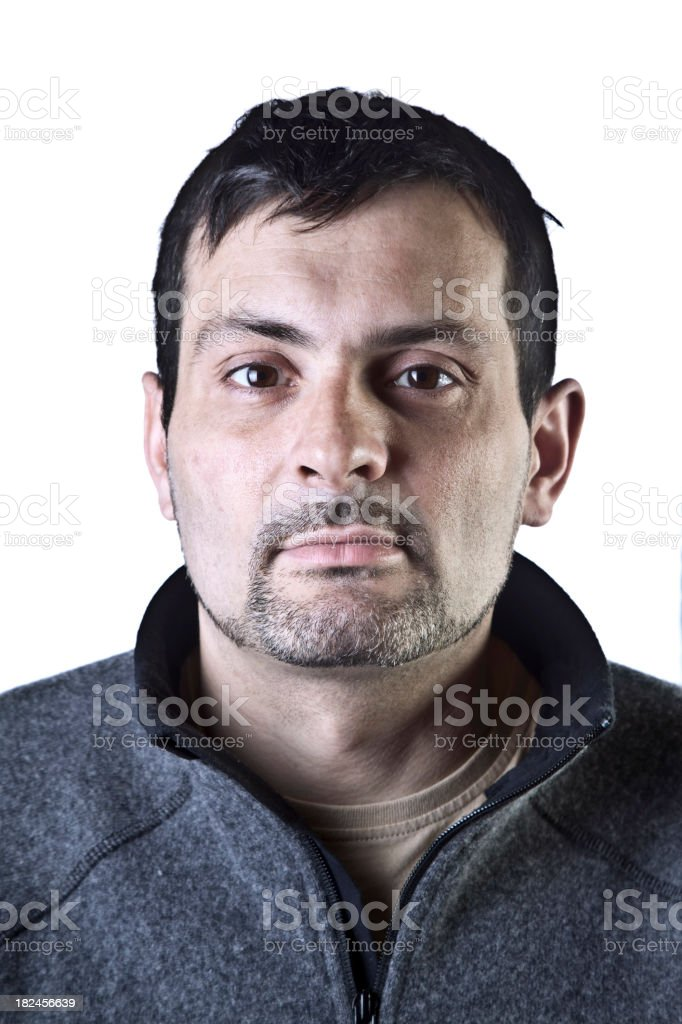 Caucasian man 36 stock photo
