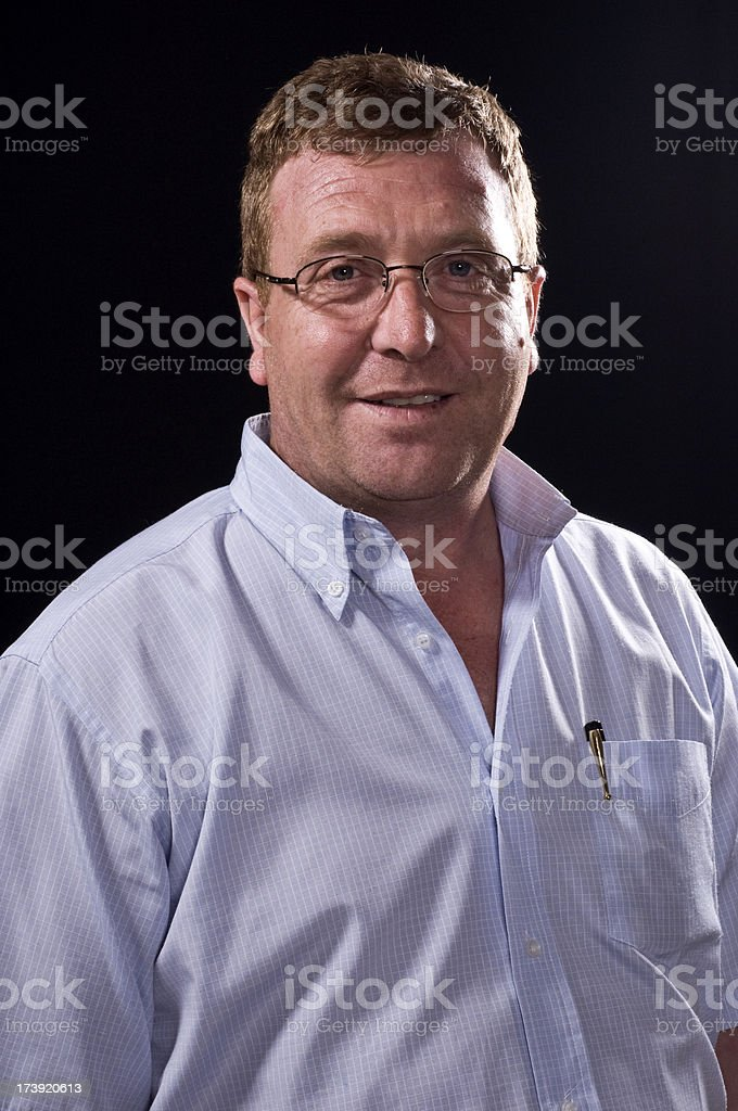 Caucasian Mature Man royalty-free stock photo