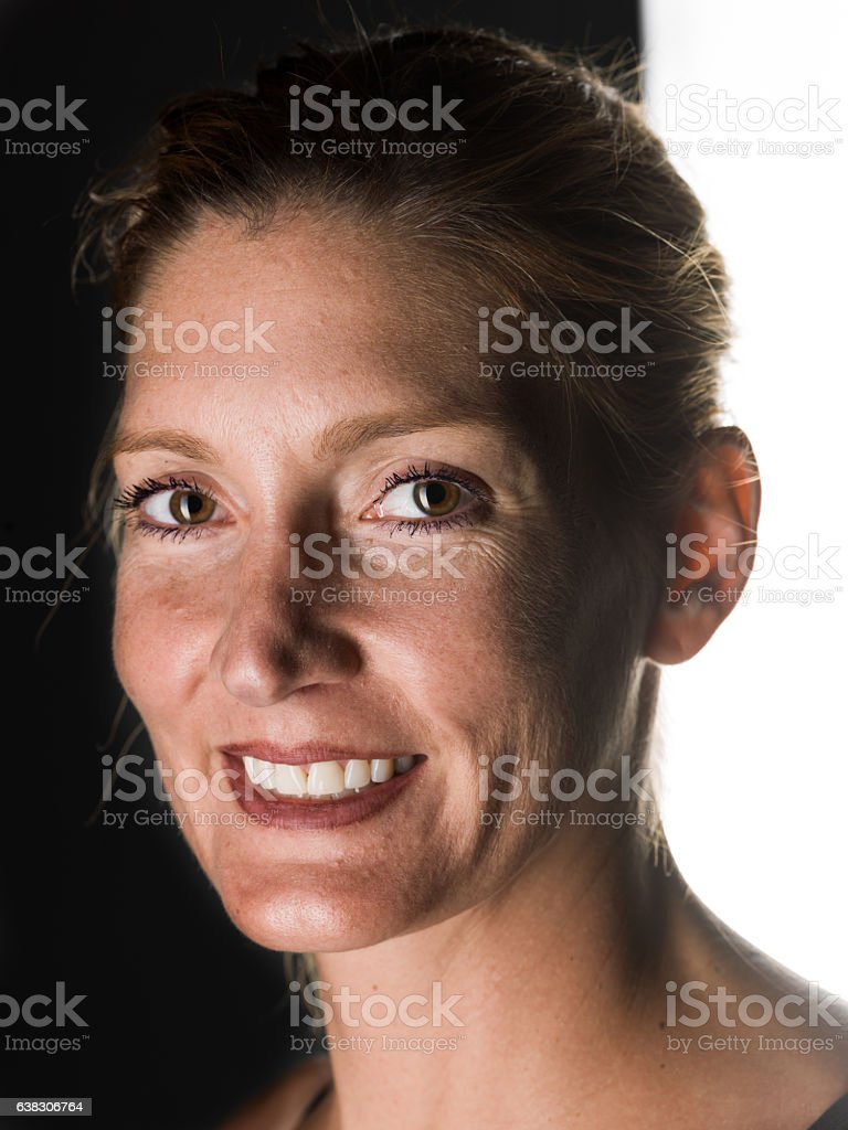 Caucasian mature woman stock photo