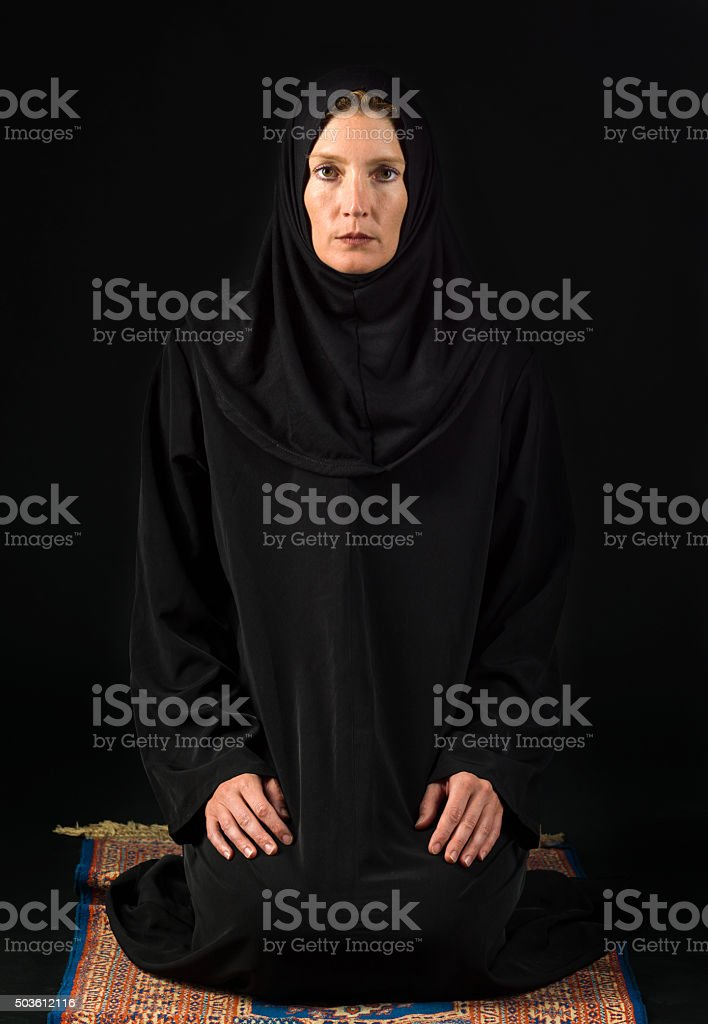 Caucasian Muslim Woman stock photo