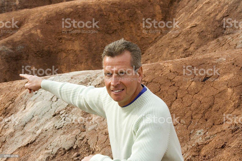 Caucasian teacher in field trip royalty-free stock photo