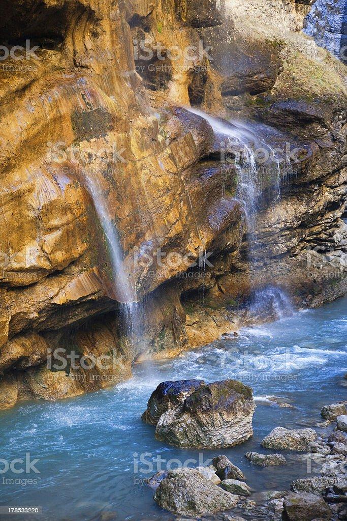 Caucasian waterfalls royalty-free stock photo