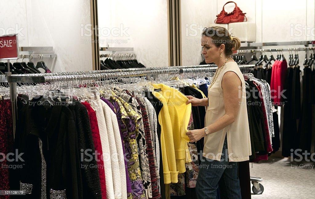 Caucasian woman shopping royalty-free stock photo