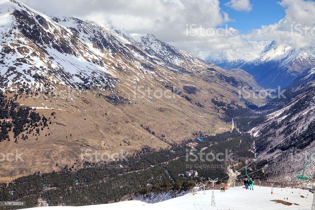 Caucasus. Mountain landscape stock photo