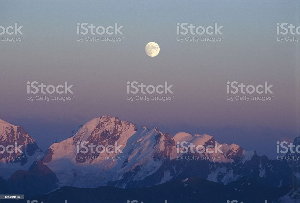Caucasus Mountains at Night royalty-free stock photo