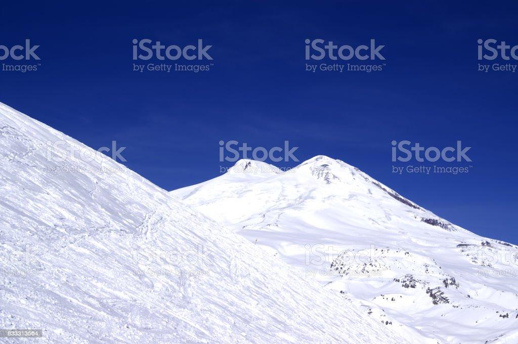 Caucasus Mountains. Elbrus stock photo